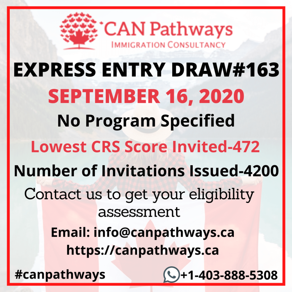 Express Entry Draw #163